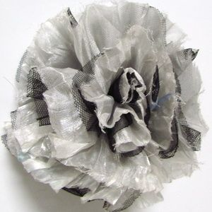 Chico's Harlie Fabric Flower Magnetic Brooch